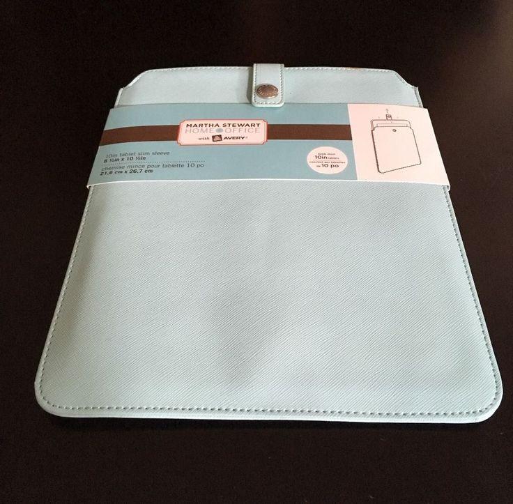 MARTHA STEWART 10 INCH TABLET SLEEVE COVER Home Office slim IPAD sleeve NEW NIP  | eBay
