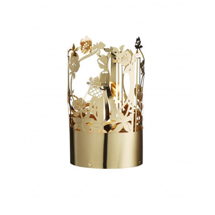 Tea Light Holder Flower girl, Gold