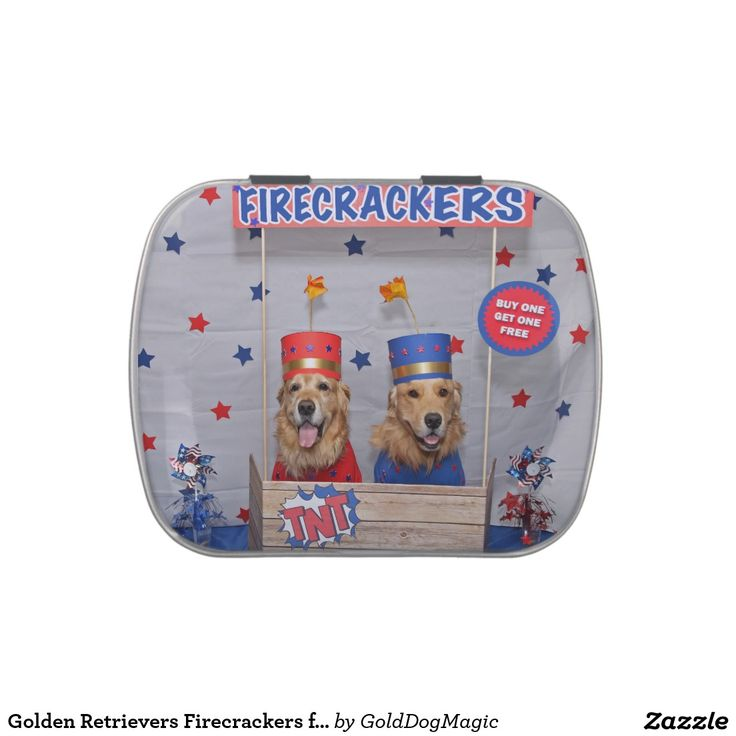 Golden Retrievers Firecrackers for Sale Candy Tin
