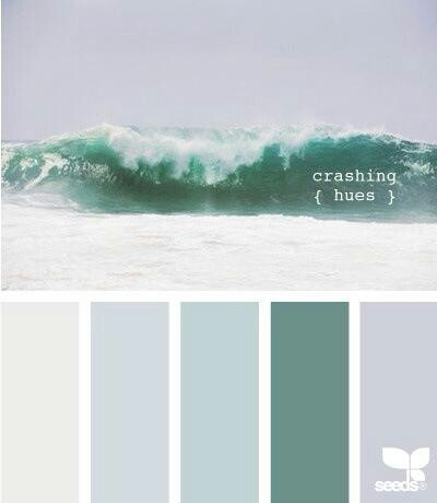 Colors Inspiration / Inspiration Couleurs blue room, want a feeling of the ocean, but not a kitschy 'sailor' room