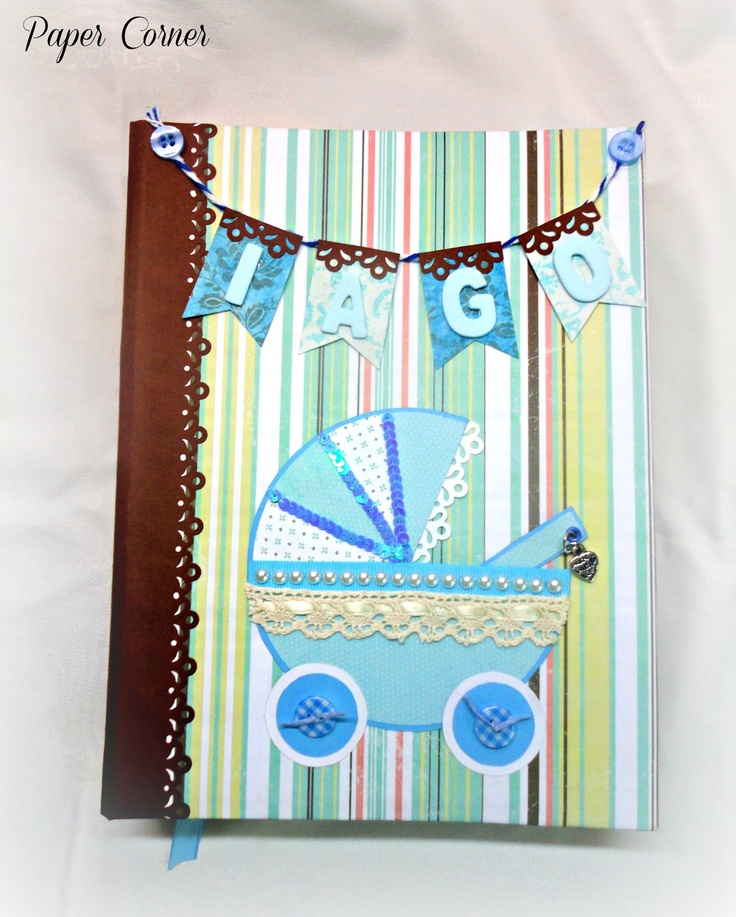 Paper Corner: Libro de firmas para bebé - Guestbook for a baby