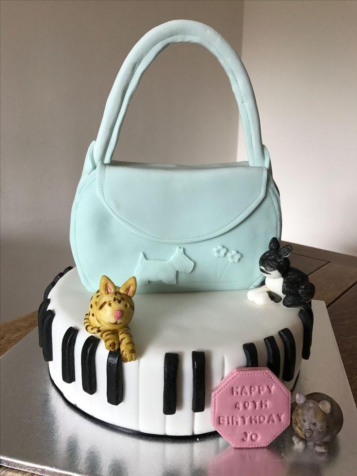 Radley bag and piano cake
