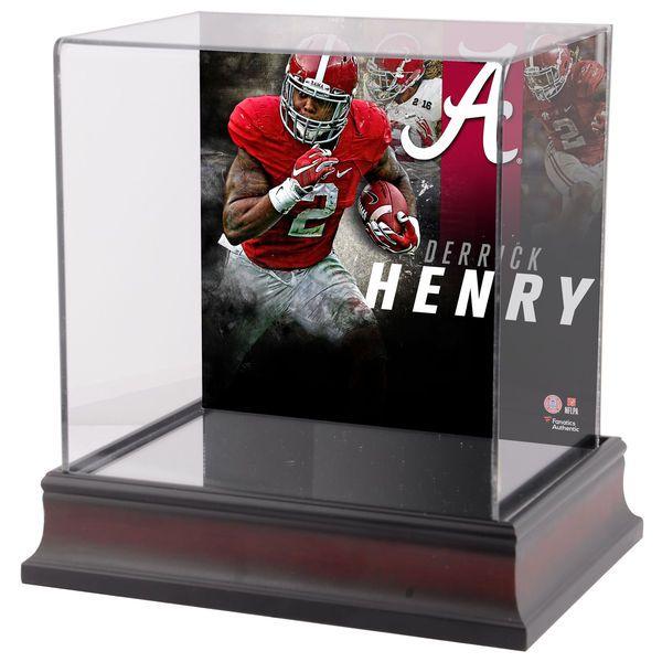 Derrick Henry Alabama Crimson Tide Fanatics Authentic Deluxe Mahogany Mini Helmet Case - $59.99