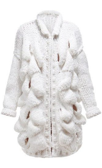 CHUNKY Knit Fashion Cardigan. Knit Cardigan for Women. Unique Knit Coat. Bohemian Knit Cardigan. Trendy Womens Clothing. Wool knit coat by NinElDesign on Etsy