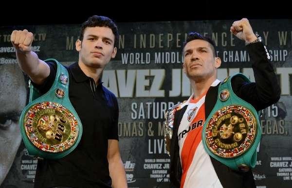 Las fotos de Sergio Martínez y Julio César Chávez Jr. (The Ring)