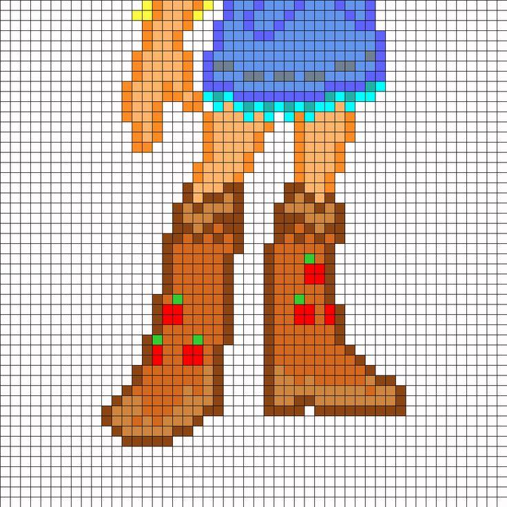 Equestria Girls AJ Part2 Perler Bead Pattern / Bead Sprite