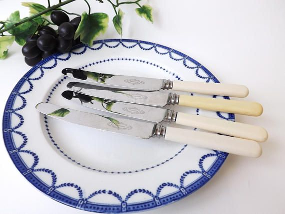 #Vintage #Cutlery Dinner Knife 4 #Sheffield #Knives #English
