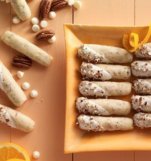 Check out this delicious recipe for Orange Butternut Logs from 25 Merry Days at Kroger!