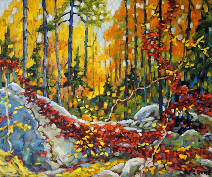 """Autumn's Garland After Tom Tompson Group of Seven"" by Artist Become member artist Richard T. Pranke. Fine art canvas reproductions available from ArtistBe.com. #autumn #fall"