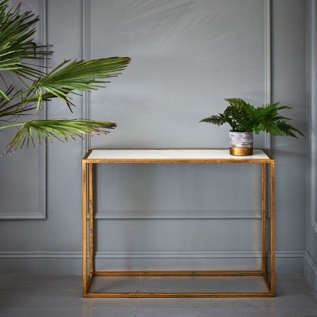 Odell Gold And Marble Console | Console Tables | Graham & Green