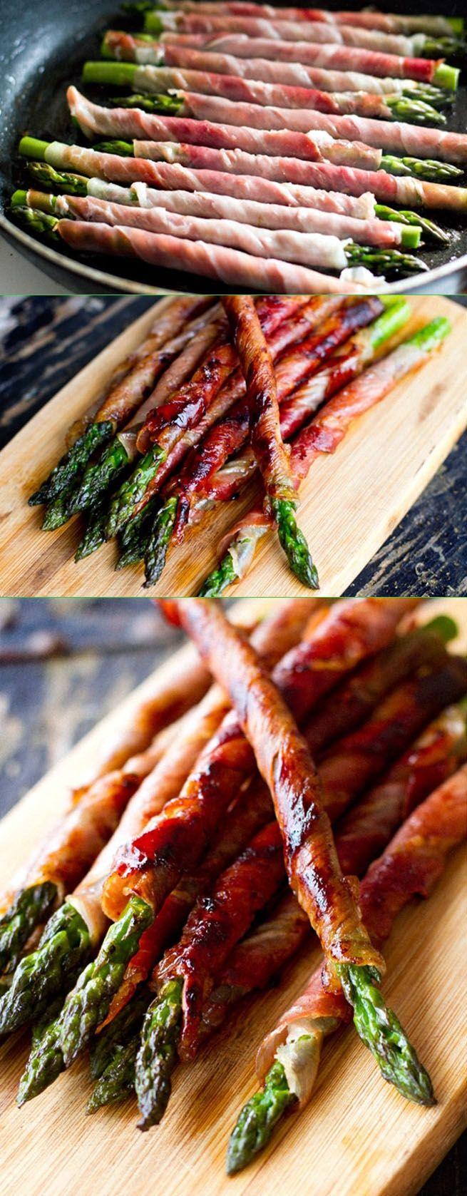 asperges/ jambon en baguette