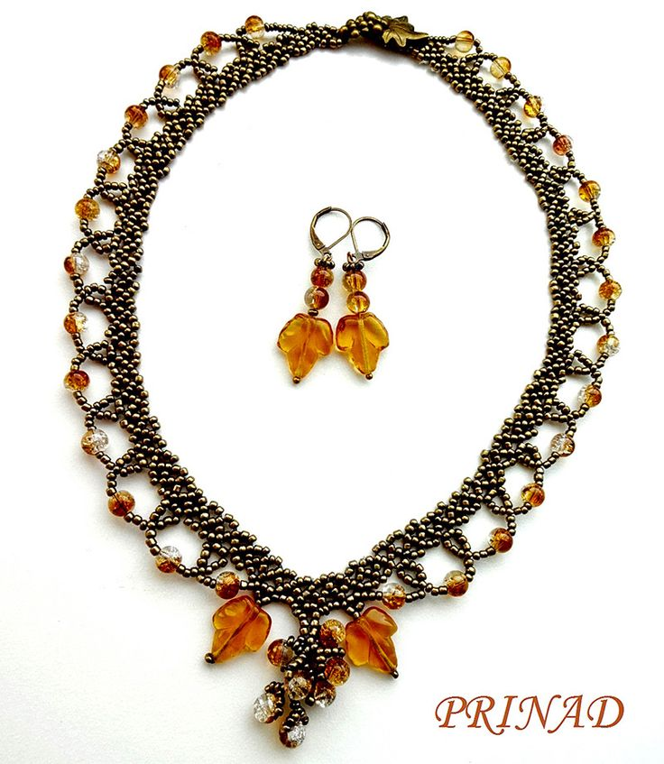 Free pattern for beaded necklace Grapevine Click on link to get pattern - http://beadsmagic.com/?p=6973