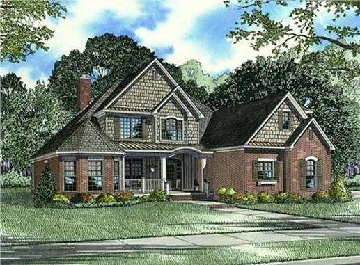 This house plan features a Front Covered Porch with box columns Foyer open to above Theater Balcony Study/Guest Room with walkin closet and private bath Great Room open to Hearth Room with access to Rear Grilling Porch Kitchen with snack bar to Breakfast Room, walkin pantry and Butler's Pantry to Dining Room Master Suite with 10 ft box ceiling, access to Rear Porch, and private bath Master Bath with split vanities, walkin closet with ironing board built-in, corner whirlpool tub, glass sh...