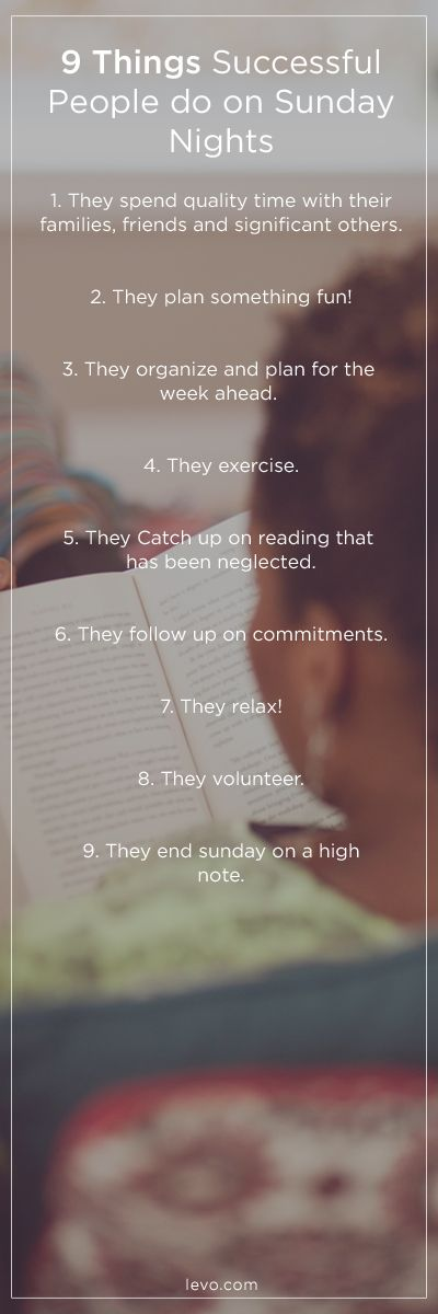 9 Things Successful People Do on Sunday Nights | Sunday ...