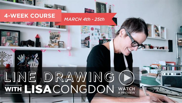 Learn To Draw With  Lines with  Lisa Congdon - Creativebug