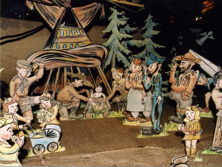 A paper nativity designed by Oldřich Drozda in 2000. Mr. Drozda has been a welcome authority in the fine woodcarving field and nativities, participating in Christmas workshops up to 2011. from http://vanocnivystava.baf.cz/wp-content/gallery/2000_ceske_betlemy/img014.jpg