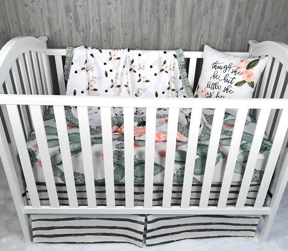 Custom Made Baby Bedding Llama Desert Cactus Fl Lama Crib Nursery Babylo