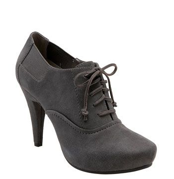 I kind of want these and kin of hate them.  Gray suede heeled oxford! Win! Hoof shaped platform! Lose!