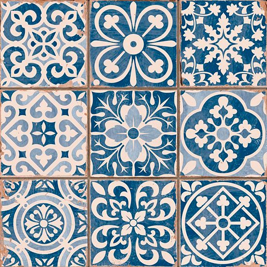 Tapestry Blue ceramic wall tiles by Piazza Tiles | Budget tiles | PHOTO GALLERY | Style at Home | Housetohome.co.uk