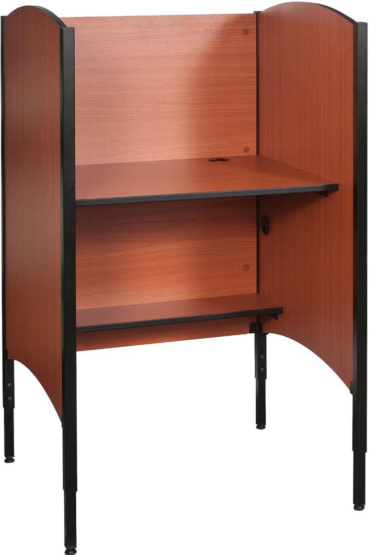 Harvard hgse computer tables flickr photo sharing - Amazon Com Balt Adjustable Height Privacy Study Carrel Starter Furniture Decor