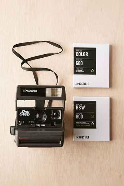 Ensemble appareil photo en une étape vintage Impossible Project