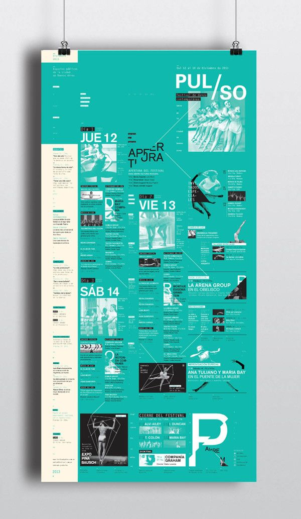PULSO / Festival de Danza Contemporánea by Flor Noejovich, via Behance