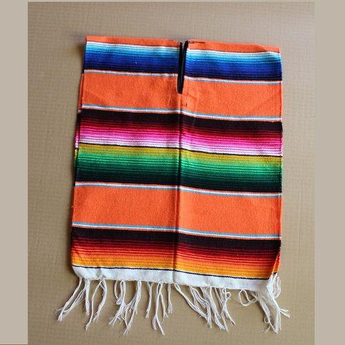 Poncho Mexicain Enfants - 100 x 40 cm - Jaune