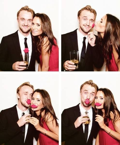 Tom Felton and Jade Olivia. Adorable. | I love them. I should hate Jade, but they're just so cute
