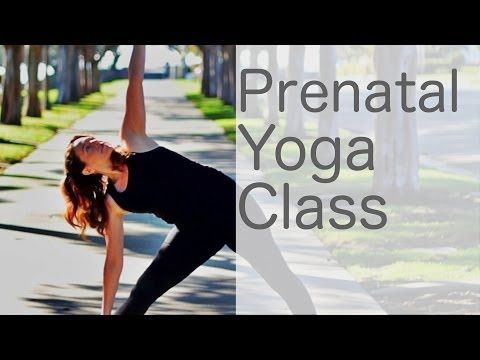 ▶ Free Yoga Class (Prenatal yoga class online) with Lesley Fightmaster Pregnancy Yoga - YouTube