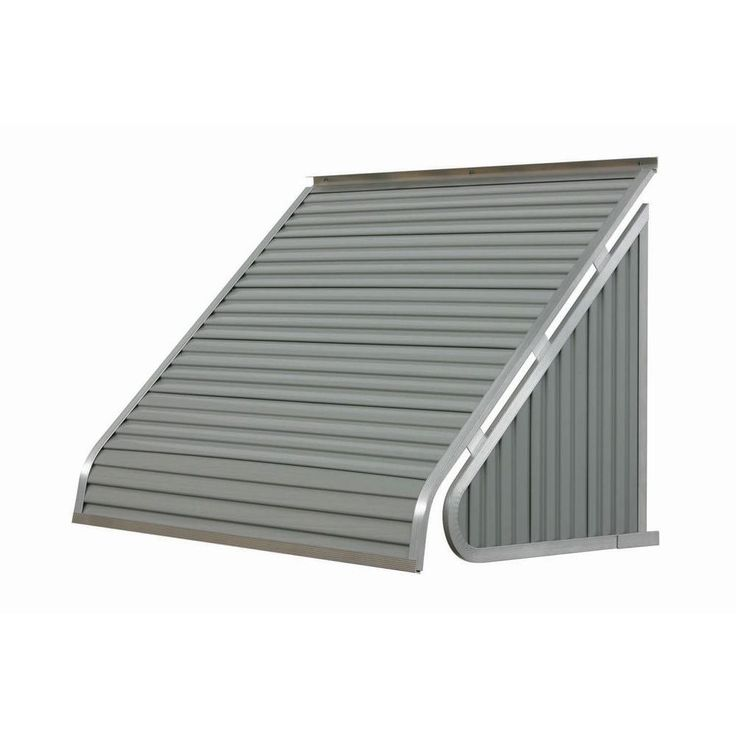 NuImage Awnings 5 ft. 3500 Series Aluminum Window Awning (24 in. H x 20 in. D) in Almond, Beige/Bisque