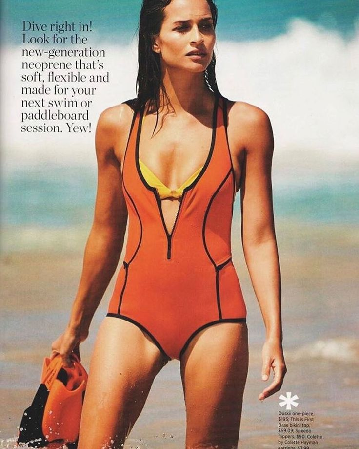 Bombshell ✨ Our Oasis T-back one piece featured in the April issue of #womenshealthaus