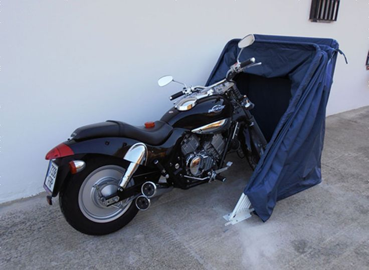 Folding motorcycle cover ideal for all types of motorbikes bikecover bike cover http - Motorcycle foldable garage tent cover ...