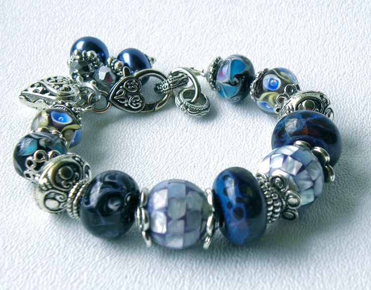 Blue Bayou Handmade Beaded Bracelet. Via Etsy.