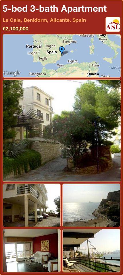 5-bed 3-bath Apartment in La Cala, Benidorm, Alicante, Spain ►€2,100,000 #PropertyForSaleInSpain
