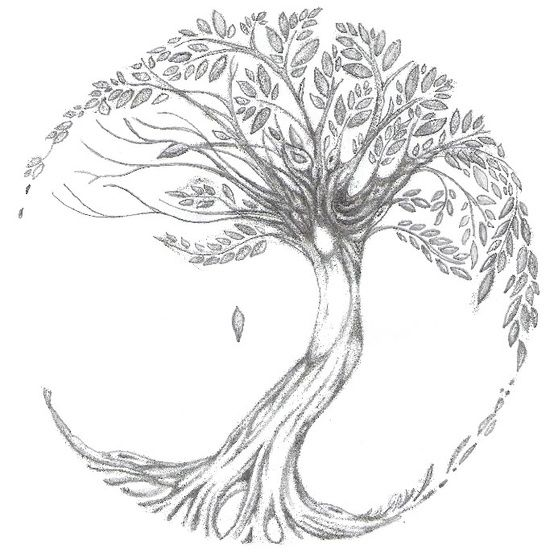 Tree of life tattoo... Want this on my upper thigh with a little bit girlier branches and leaves