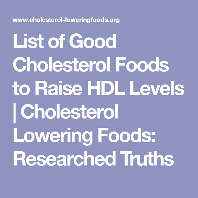 List of Good Cholesterol Foods to Raise HDL Levels | Cholesterol Lowering Foods: Researched Truths