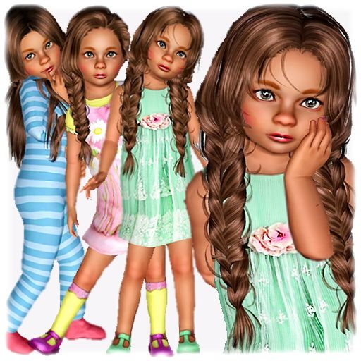 The Sims 3 Download: Annemieke Vanderbilt Toddler By SellaSu