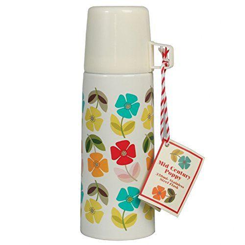 Design Kinder Thermoskanne Isolierkanne Kaffeekanne Isolierflasche (poppy)