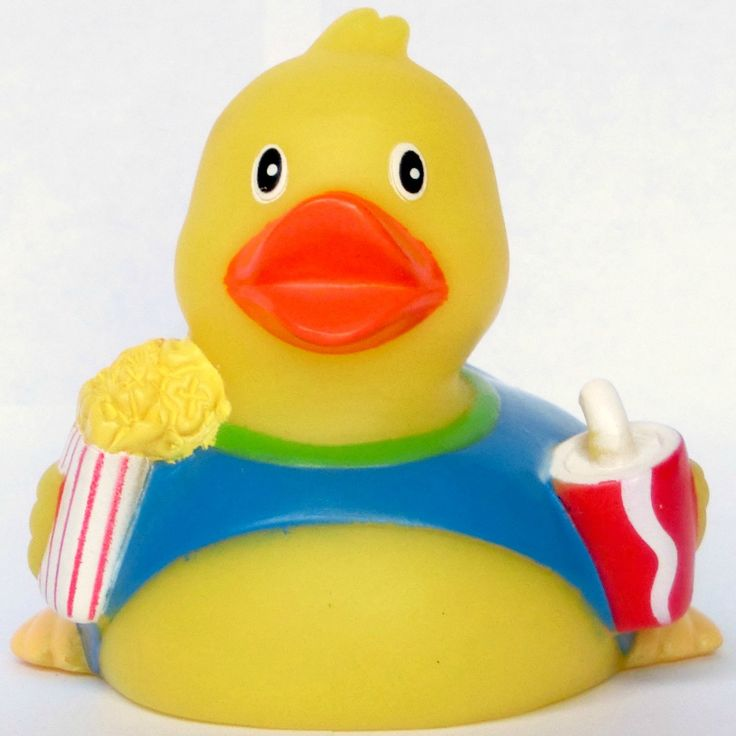 Do you like watching movies and shows? The Rubber Movie Duck can be a good company for you. Add the Rubber Movie Duck to your entertainment room, bedroom, or pool for an extra pop of fun! Measurements