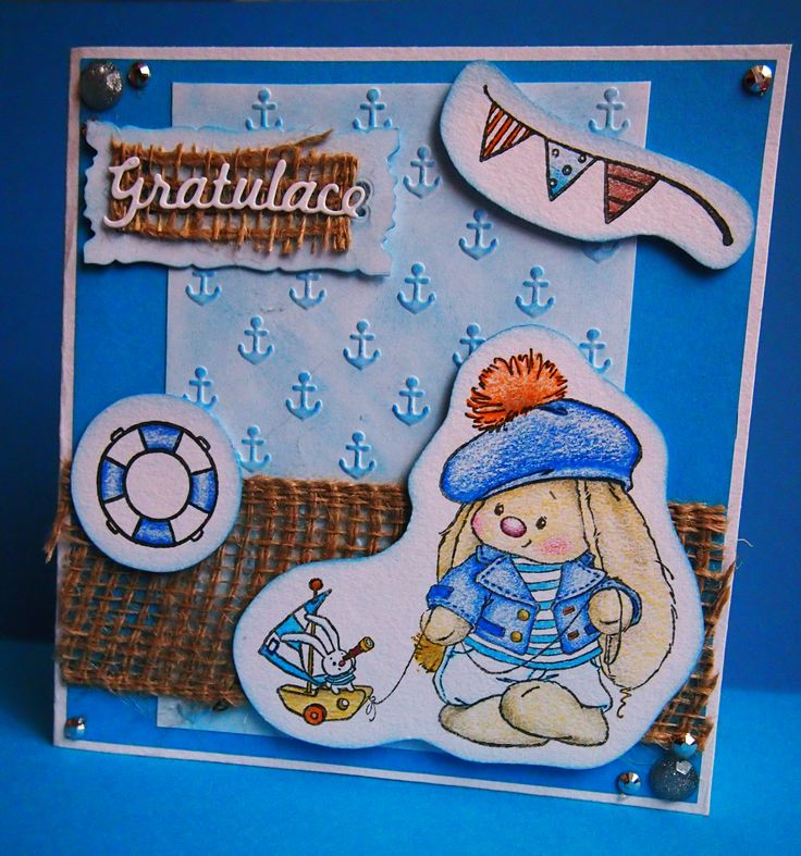 #birthday #card #small #cute #card #blue #gratulation  #papercard #carmaking #paper #handmade #mywork