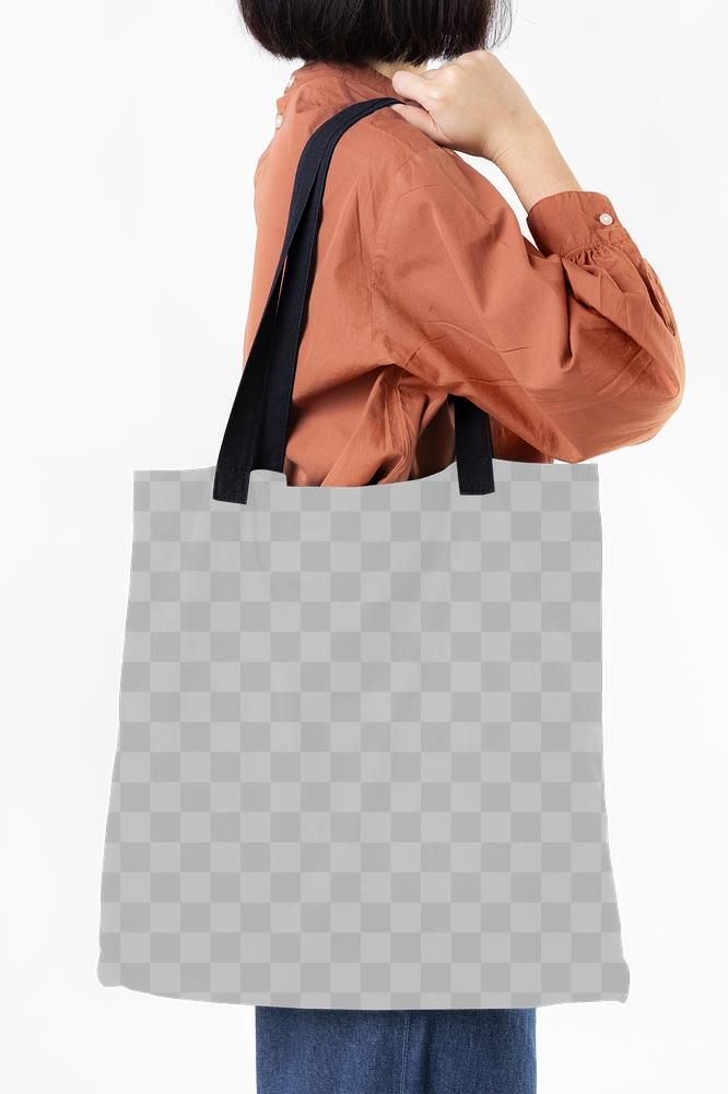 Download Woman With A Tote Bag Transparent Png Free Image By Rawpixel Com Mckinsey Tote Bag Bags Tote