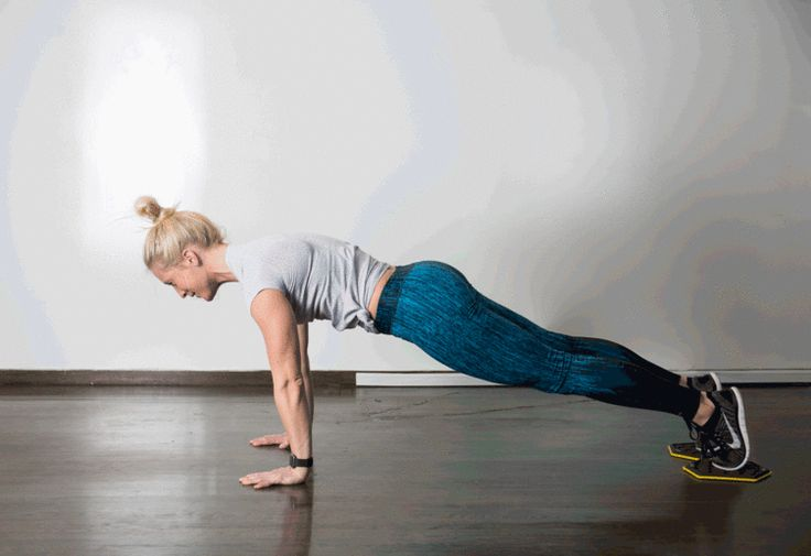 4. Slider Pike #abs #bodyweight #workout http://greatist.com/move/best-exercises-lower-abs?utm_source=pinterest&utm_medium=social&utm_campaign=onsiteshare Put some extra effort into the tough-to-target area with these highly effective moves.
