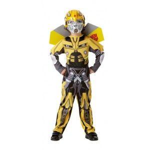 Déguisement enfant transformers bumblebee dark of the moon  deluxe sous licence officielle avec masque et ailes.