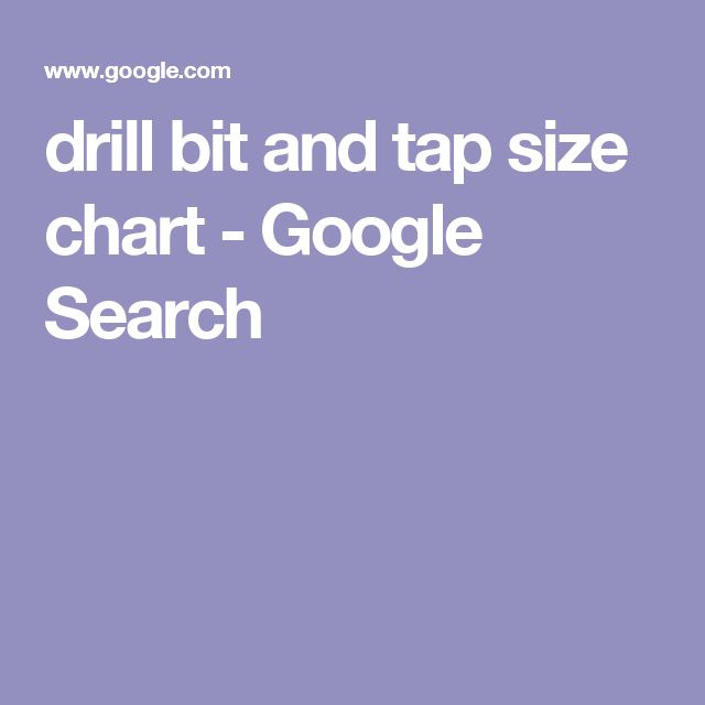 23 best Conversion Charts(Inches-mm etc) images on Pinterest - sample tap drill chart