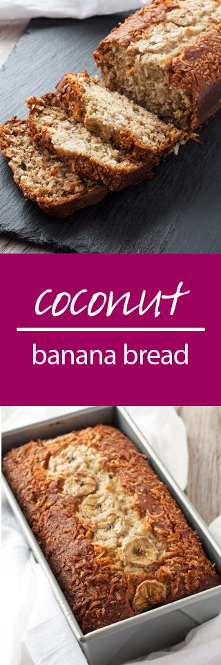 coconut banana bread | ahappyfooddance.com