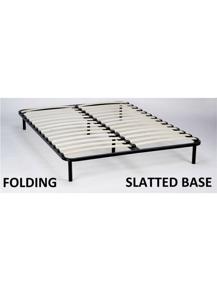 Slatted Folding Guest Bed/Bed Base in European Double Size - FREESTANDING