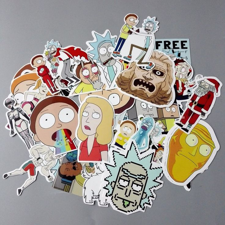 35 Rick and Morty Stickers