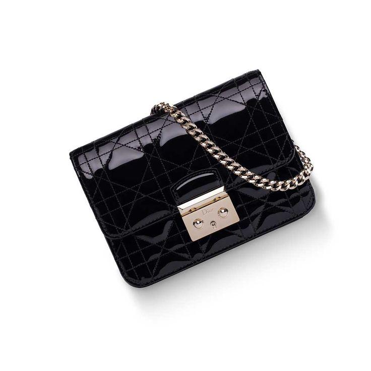 Dior - Miss Dior Promenade Mini Çanta Parlak Siyah - Altın - 15 #Dior #Dior-MissDiorPromenadeMini #Çanta