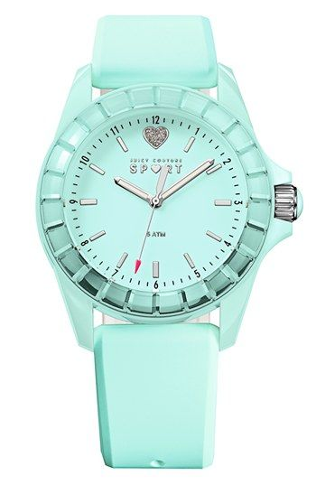 Juicy Couture 'Sport' Crystal Bezel Silicone Strap Watch, 40mm available at #Nordstrom