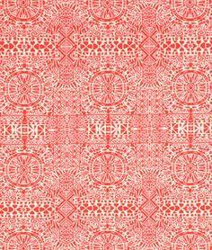 Coral Mia Ethnic Rayon Challis Fabric   onlinefabricstore.net